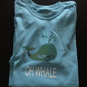 Handmade Metallic Oh Whale T Shirt